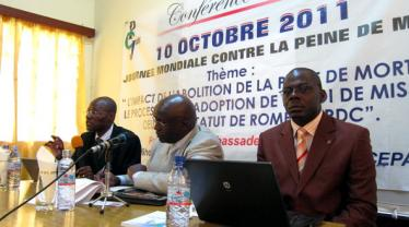 The death penalty and the situation in Africa debated in Kinshasa