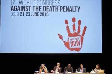 Roundtable on terrorism at the 6th World Congress against the death penalty