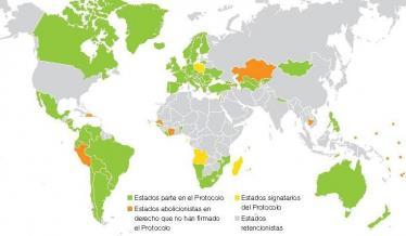 Mapa: Ratificación del Segundo Protocolo Facultativo