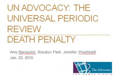 Training on death penalty advocacy for the UPR