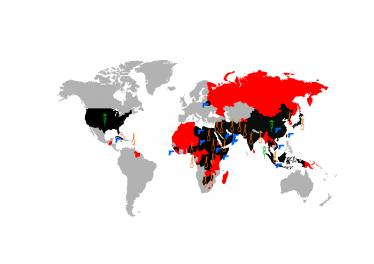World Map of Methods of Execution