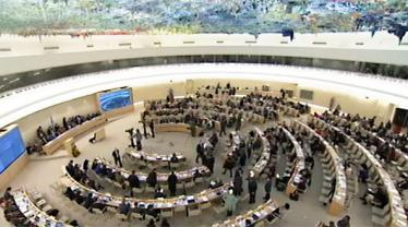 The United Nations Human Rights Council votes in favor of a new resolution on the death penalty